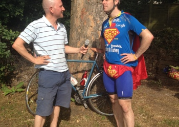 Wheels of Wisdom meets Super Cycling Man