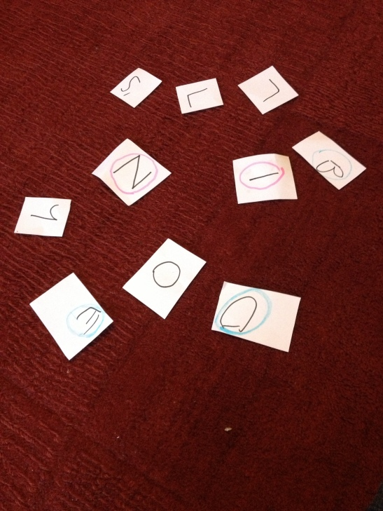 Jumbled letters game