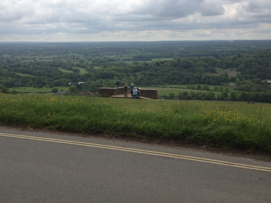 View from top of Box Hill Olympic route